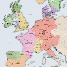 Map of Europe 981