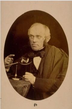 Professor William Fischer, Professor of Natural Philosophy, University of St Andrews 1847-1859. By Thomas Rodger, 1855. Image courtesy of University of St Andrews Library ALB-1-84 .