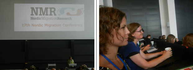Introductory slide from conference, and DIMECCE team members Dr Sara Lei Sparre and Dr Lise Paulsen Galal