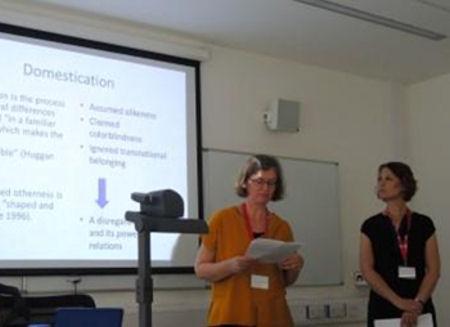 DIMECCE Danish team Lise and Sara presenting their paper
