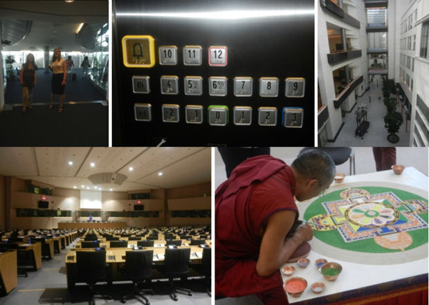 Sights from the European Parliament building